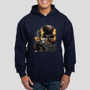 Ghost Rider Skull Hoodie (dark)