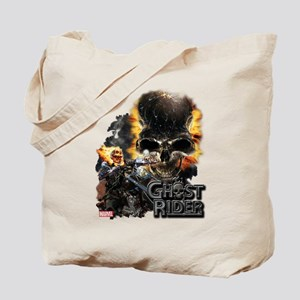 Ghost Rider Skull Tote Bag