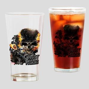 Ghost Rider Skull Drinking Glass