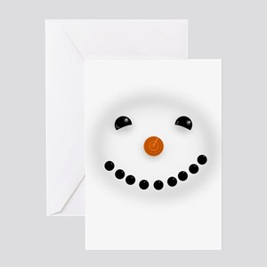 Snowman Face DARKS Greeting Cards