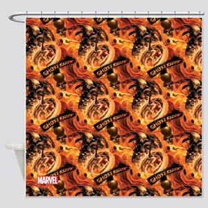 Ghost Rider Pattern Shower Curtain