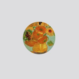Vase with Twelve Sunflowers, Van Gogh Mini Button