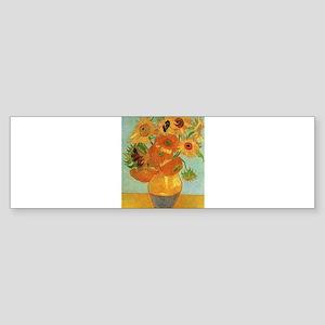 Vase with Twelve Sunflowers, Van Gogh Bumper Stick