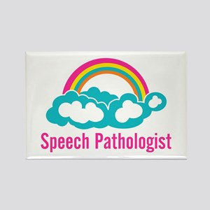 Cloud Rainbow Speech Pathologist Rectangle Magnet