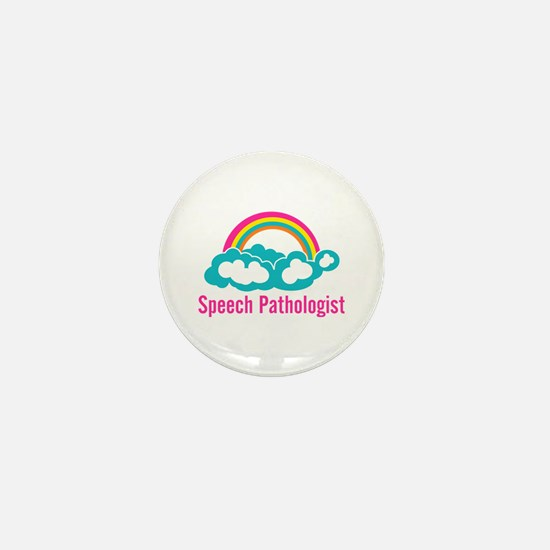 Cloud Rainbow Speech Pathologist Mini Button