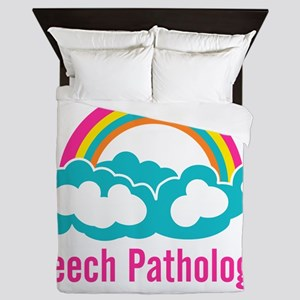 Cloud Rainbow Speech Pathologist Queen Duvet