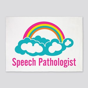 Cloud Rainbow Speech Pathologist 5'x7'Area Rug