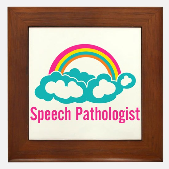 Cloud Rainbow Speech Pathologist Framed Tile