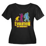 Evolution of Bigfoot Plus Size T-Shirt