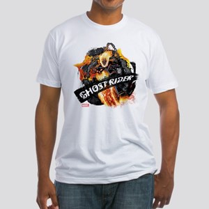 Ghost Rider Flames Fitted T-Shirt