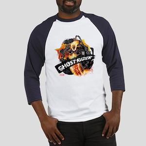 Ghost Rider Flames Baseball Jersey