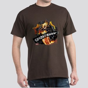 Ghost Rider Flames Dark T-Shirt