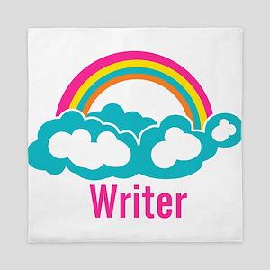 Rainbow Cloud Writer Queen Duvet