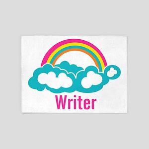 Rainbow Cloud Writer 5'x7'Area Rug