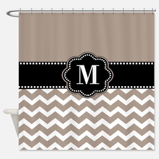 black and tan shower curtain. Tan Black Chevron Monogram Shower Curtain Curtains  CafePress