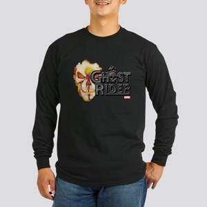 Ghost Rider Logo Long Sleeve Dark T-Shirt