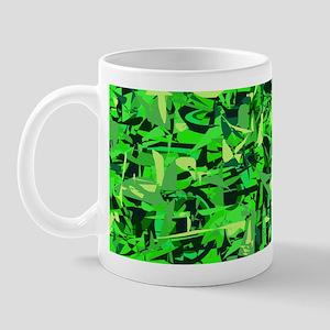 Abstract Retro Green and Blac Mug