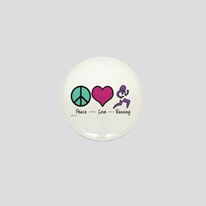Peace- Love- Running Mini Button