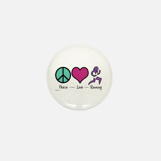 Peace- Love- Running Mini Button