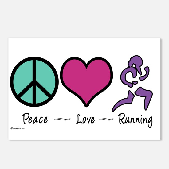 Peace- Love- Running Postcards (Package of 8)