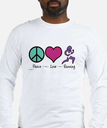 Peace- Love- Running Long Sleeve T-Shirt