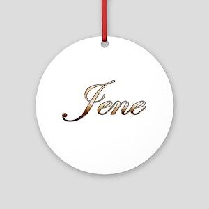 Gold Jene Round Ornament