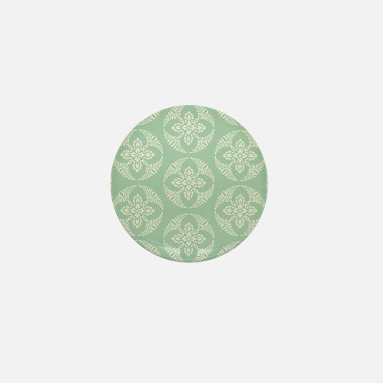 modern vintage seafoam medallion Mini Button
