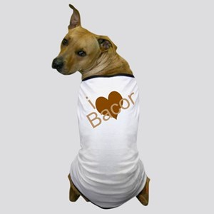 I Heart Bacon Dog T-Shirt
