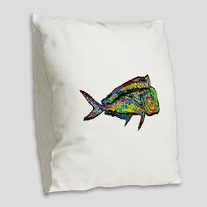 NEW WAVES Burlap Throw Pillow