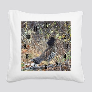 Partridge 3 Square Canvas Pillow