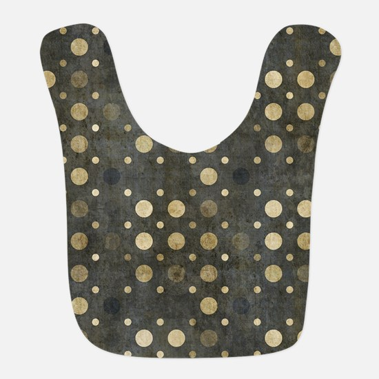 Contemporary Black and Beige Grunge Dots Bib