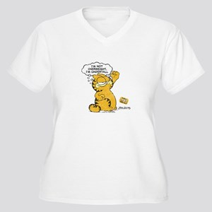 "Garfield ""I'm Undertall"" Women's Plus Size V-Neck"