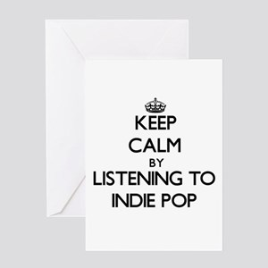 Keep calm by listening to INDIE POP Greeting Cards