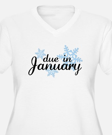 Due In January Snowflake T-Shirt