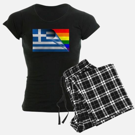 Greece Gay Pride Rainbow Flags pajamas