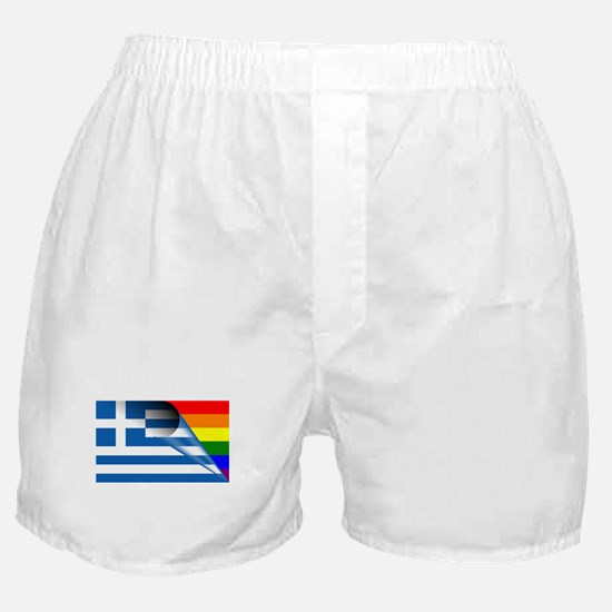 Greece Gay Pride Rainbow Flags Boxer Shorts