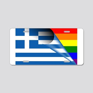 Greece Gay Pride Rainbow Flags Aluminum License Pl