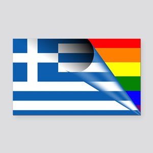 Greece Gay Pride Rainbow Flags Rectangle Car Magne