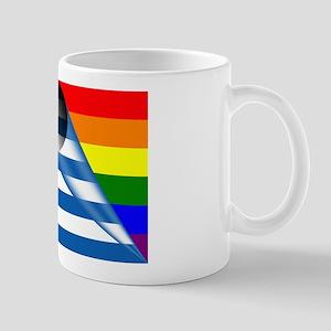 Greece Gay Pride Rainbow Flags Mugs