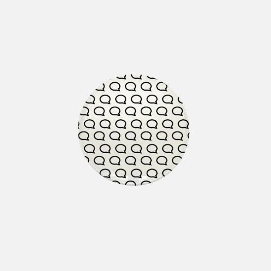 Cool Speech bubble Mini Button