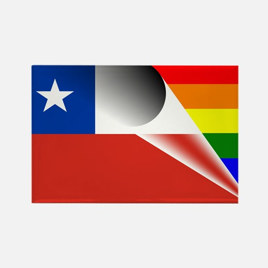 Chile Gay Pride Rainbow Flag Magnets