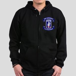 Offical 173rd Brigade Logo Zip Hoodie (dark)
