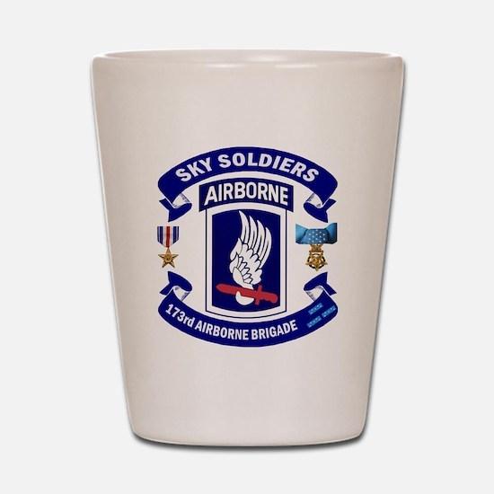 173rd Infantry Logo Shot Glass