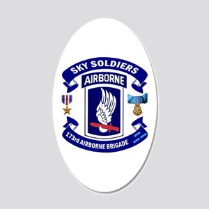 173rd Infantry Logo 20x12 Oval Wall Decal