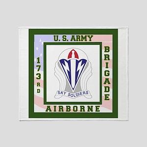 Airborne! 173rd Brigade Throw Blanket