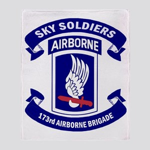Offical 173rd Brigade Logo Throw Blanket