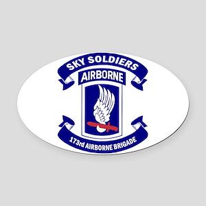 Offical 173rd Brigade Logo Oval Car Magnet