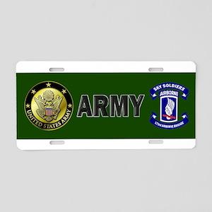 Offical 173rd Brigade Logo Aluminum License Plate