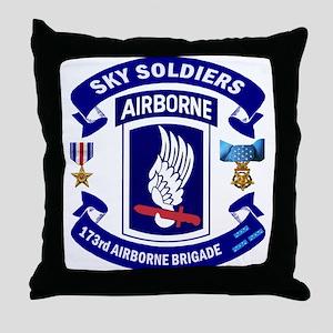 173rd Infantry Logo Throw Pillow