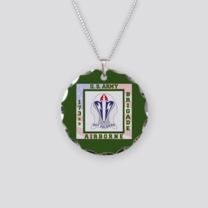 Airborne! 173rd Brigade Necklace Circle Charm